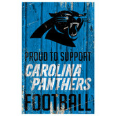 Carolina Panthers Sign 11x17 Wood Proud to Support Design