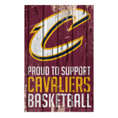 Cleveland Cavaliers Sign 11x17 Wood Proud to Support Design