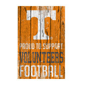 Tennessee Volunteers Sign 11x17 Wood Proud to Support Design