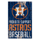 Houston Astros Sign 11x17 Wood Proud to Support Design