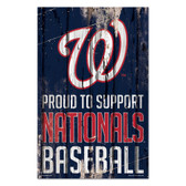 Washington Nationals Sign 11x17 Wood Proud to Support Design