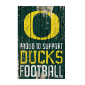 Oregon Ducks Sign 11x17 Wood Proud to Support Design