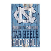 North Carolina Tar Heels Sign 11x17 Wood Proud to Support Design