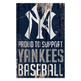 New York Yankees Sign 11x17 Wood Proud to Support Design