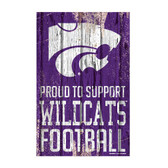 Kansas State Wildcats Sign 11x17 Wood Proud to Support Design