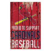 St. Louis Cardinals Sign 11x17 Wood Proud to Support Design