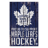 Toronto Maple Leafs Sign 11x17 Wood Proud to Support Design