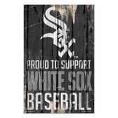Chicago White Sox Sign 11x17 Wood Proud to Support Design