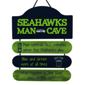 Seattle Seahawks Sign Wood Man Cave Design