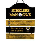 Pittsburgh Steelers Sign Wood Man Cave Design
