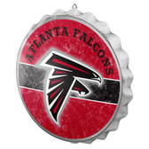 Atlanta Falcons Sign Bottle Cap Style Distressed