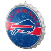Buffalo Bills Sign Bottle Cap Style Distressed