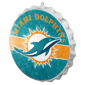 Miami Dolphins Sign Bottle Cap Style Distressed