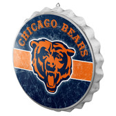 Chicago Bears Sign Bottle Cap Style Distressed