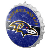 Baltimore Ravens Sign Bottle Cap Style Distressed