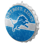 Detroit Lions Sign Bottle Cap Style Distressed