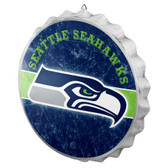 Seattle Seahawks Sign Bottle Cap Style Distressed