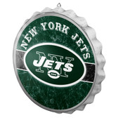 New York Jets Sign Bottle Cap Style Distressed