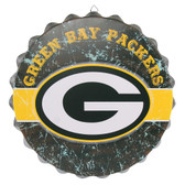 Green Bay Packers Sign Bottle Cap Style Distressed
