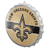 New Orleans Saints Sign Bottle Cap Style Distressed