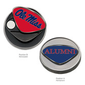 Ole Miss Rebels Alumni Ball Marker OLE MISS/ALUMNI