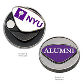 New York University Alumni Ball Marker NYU INITIALS/ALUMNI