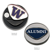 "Washington Huskies Alumni Ball Marker UNIV OF WASHINGTON ""CAPITAL W""/ALUMNI"