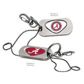Alabama Crimson Tide Dog Tag Key Chain ALABAMA CREST/ALABAMA CAPITAL A