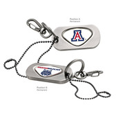 Arizona Wildcats Dog Tag Key Chain UNIV. OF ARIZONA CAPITAL A/UNIV. ARIZONA WILDCAT