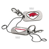 Arkansas Razorbacks Dog Tag Key Chain ARKANSAS BIG RED/ARKANSAS RAZORBACKS