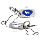 "Kentucky Wildcats Dog Tag Key Chain KENTUCKY ""KU""/KENTUCKY WORD"