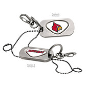Louisville Cardinals Dog Tag Key Chain LOUISVILLE CARDINAL/LOUISVILLE WORD