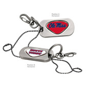 Ole Miss Rebels Dog Tag Key Chain UNIV. OF MISSISSIPPI OLE MISS/UNIV. OF MISSISSIPPI HOTTY TODDY