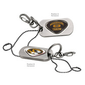Missouri Tigers Dog Tag Key Chain MISSOURI TIGERS WORD/MISSOURI TRUMAN THE TIGER
