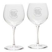 South Carolina Fighting Gamecocks Luigi Bormioli 18 oz Titanium Red Wine Glass - Set of 2