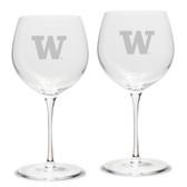 Washington Huskies Luigi Bormioli 18 oz Titanium Red Wine Glass - Set of 2