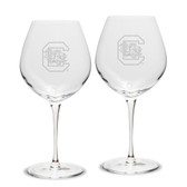 South Carolina Fighting Gamecocks Luigi Bormioli 22 oz Titanium Robusto Red Wine Glass - Set of 2