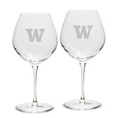 Washington Huskies Luigi Bormioli 22 oz Titanium Robusto Red Wine Glass - Set of 2