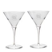 South Carolina Fighting Gamecocks Luigi Bormioli 10 oz Titanium Martini Glass - Set of 2