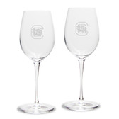 South Carolina Fighting Gamecocks Luigi Bormioli 12 oz Titanium White Wine Glass - Set of 2