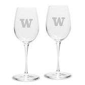 Washington Huskies Luigi Bormioli 12 oz Titanium White Wine Glass - Set of 2