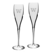 Washington Huskies Luigi Bormioli 6 oz Titanium Toasting Glass - Set of 2