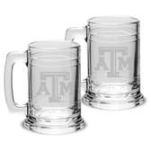 Texas A&M Aggies 15 oz Colonial Tankard-Set of 2