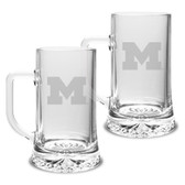 Michigan Wolverines 17.5 oz Maxim Mug - Set of 2