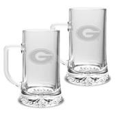 Georgia Bulldogs 17.5 oz Maxim Mug - Set of 2