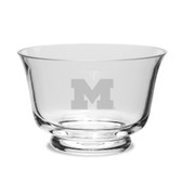 Michigan Wolverines Crystal Revere Bowl