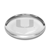 Miami Hurricanes Oval Paperweight