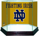 Notre Dame Fighting Irish ND Logo Gold Background Glass Full Size Helmet Case