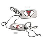 "Texas Tech Red Raiders Dog Tag Key Chain TEXAS TECH ""TT""/TEXAS TECH RAIDER RED"