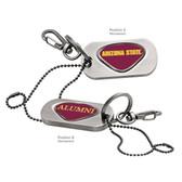 Arizona State Sun Devils Alumni  Dog Tag Key Chain ARIZONA STATE WORDS/ALUMNI